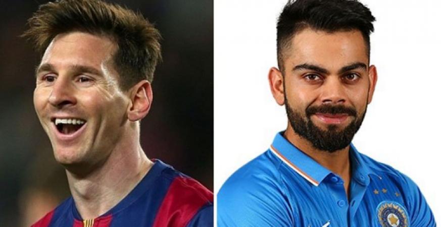 Indian skipper Virat Kohli surpasses Lionel Messi in the Forbes list.
