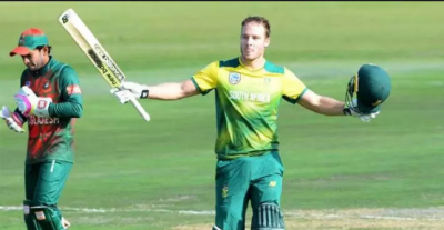David Miller hit the fastest century in T-20I's for Proteas as they beat Bangladesh by a huge margin.
