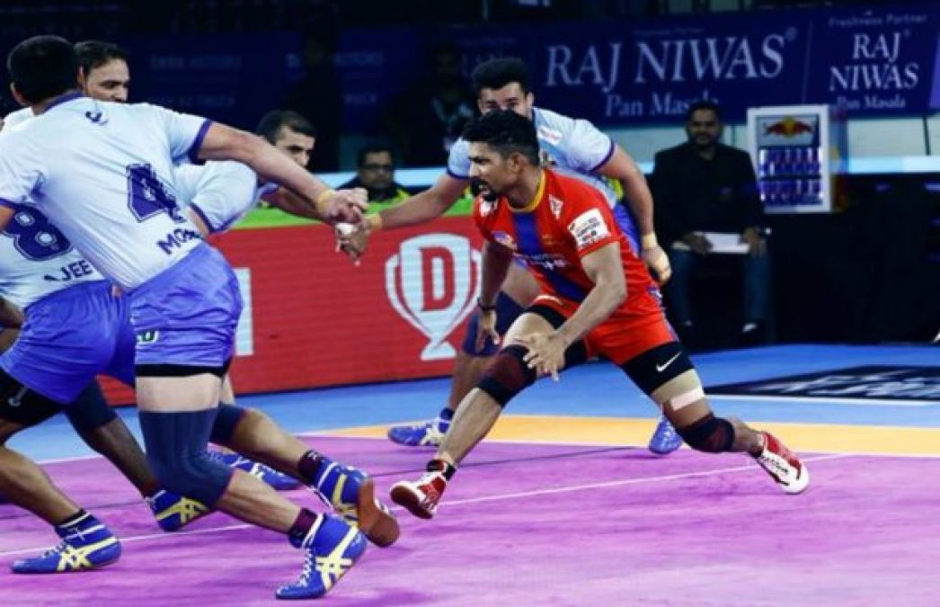 PKL 2019: UP Yoddha-Tamil Thalaivas match ends in a tie