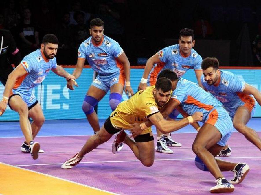 PKL 2019: Match tie between Bengal Warriors and Telugu Titans