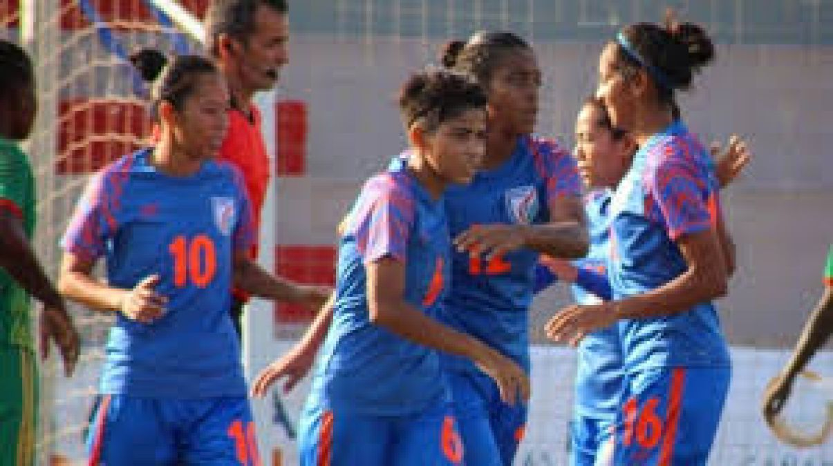 Indian women's soccer team performs well in The Cotif Cup