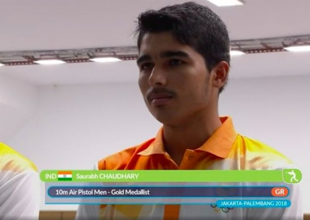 एशियन गेम्स 2018: सौरभ चौधरी ने भारत की झोली में डाला एक और गोल्ड