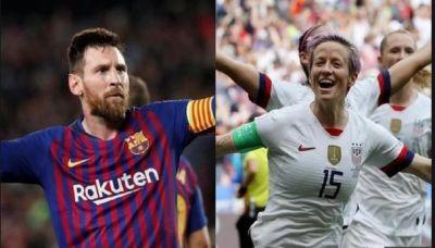 Messi breaks Ronaldo's record for sixth time, Megan Repino winner in women
