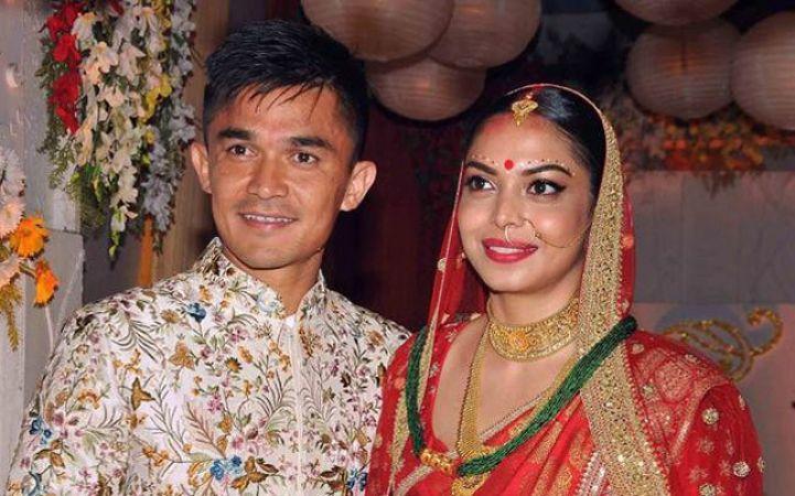 सुनील छेत्री ने सोनम भट्टाचार्य संग रचाई शादी