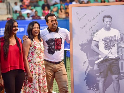 Leander Paes played his last tournament, awarded on the last day of Bengaluru Open