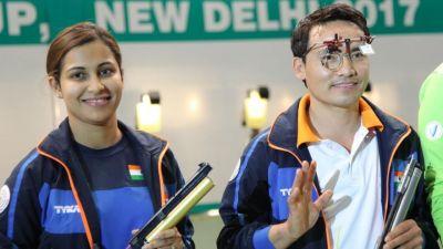 मिक्स डबल्स आईएसएसएफ विश्व कप को जीता जीतू और हीना ने