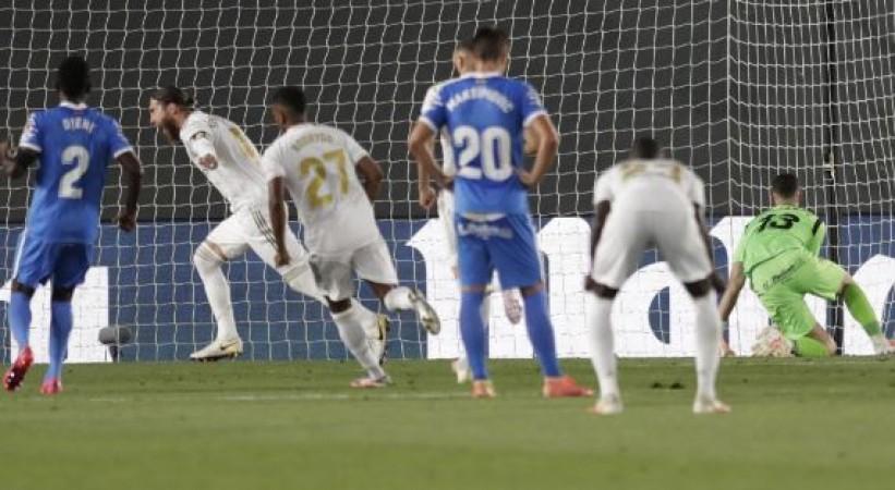 स्पेनिश लीग : पेनल्टी के सहारे रियल मैड्रिड ने जीता मैच