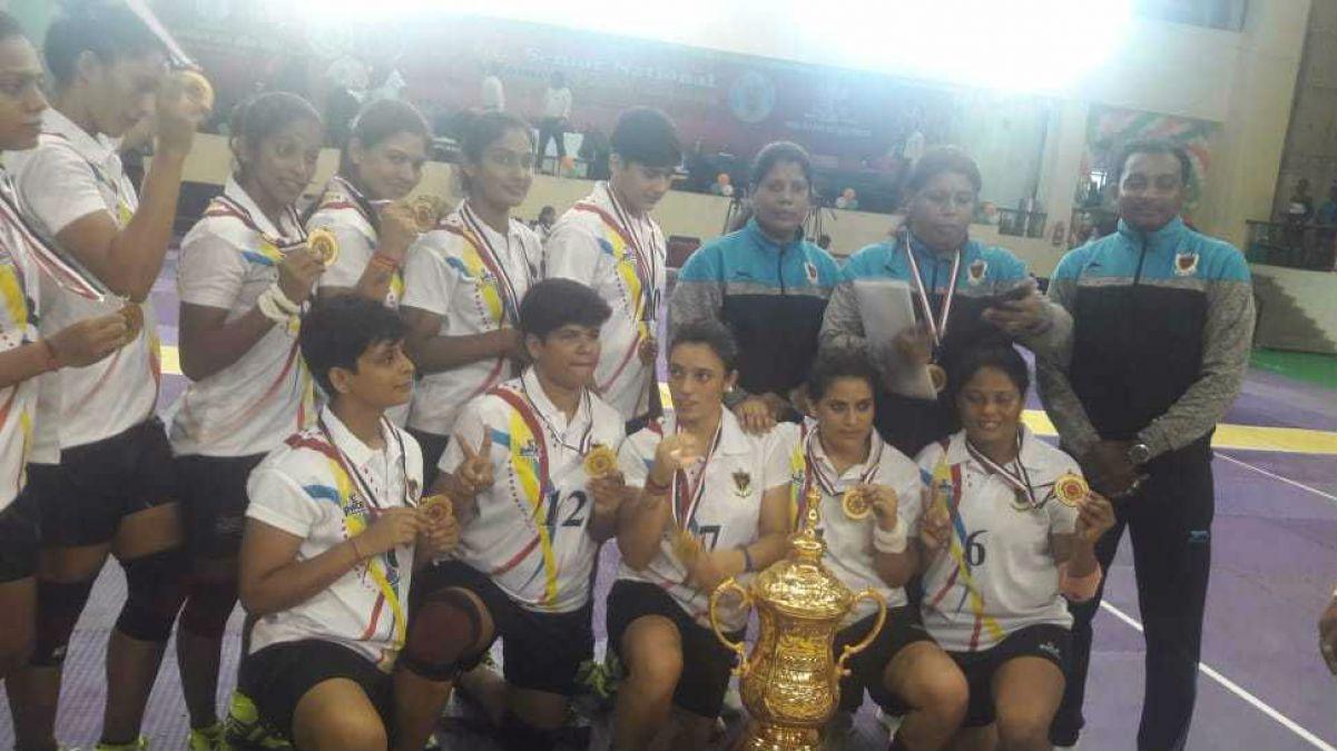 Railways beat Haryana by a big margin in Senior Women's Kabaddi Tournament