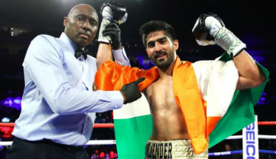 Vijender Singh wins boxer's knockout, 11th victory in streak