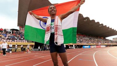 Hima Das wins 5th Gold Medal in a Month