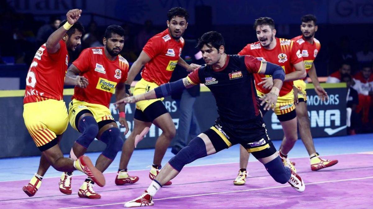 Pro Kabaddi League: Gujarat Fortune Giants beats BangaloreBulls with 42-24