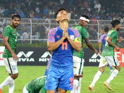 Skipper Sunil Chhetri gets emotional due to draw in match against Bangladesh