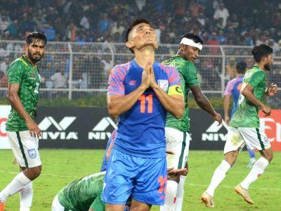 बांग्लादेश के खिलाफ ड्रॉ रहे मुकाबले से भावूक हुए कप्तान सुनील छेत्री