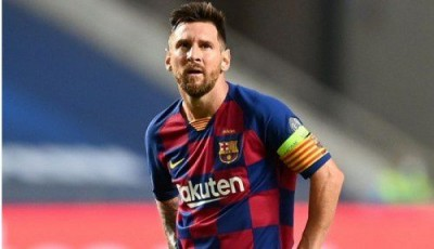 Messi happy with Barcelona's resounding victory