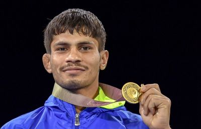 Pune welcomes their gold medallist Rahul Aware