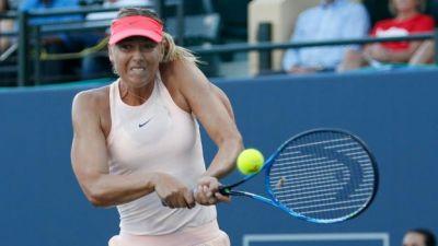 Sharapova withdrew from the  WTA tournament in Cincinnati