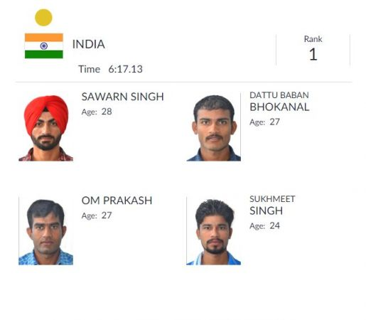 Asian Games 2018: Indian Men's quadruple sculls team wins historic gold on day 6