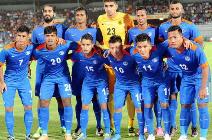 India football team crashed out of top 100 of FIFA rankings