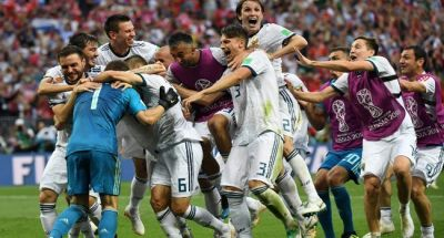 FIFA World Cup 2018: Russia celebrated a rare success in football with zest