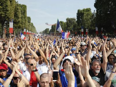 Grand welcome for France with FIFA World Cup Trophy