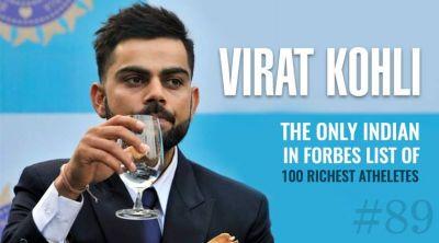 Virat Kohli  ranked 89 in world's highest-paid athletes  Forbes list
