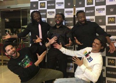 WWE wrestlers  sings 'Sher Aaya' with Gully Boy's MC Sher, watch video here