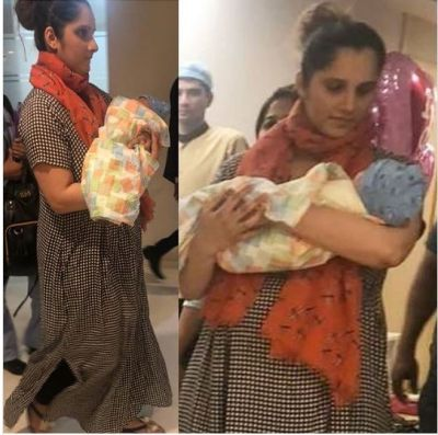 New Momy Sania Mirza spotted in hospital with baby boy Izhaan: See Pics