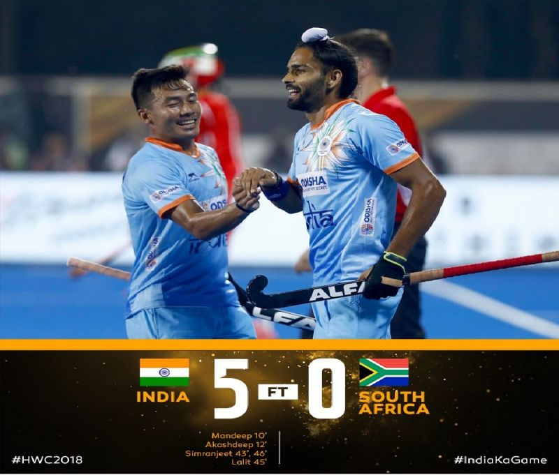 Hockey World Cup 2018: India beats South Africa 5-0 in first opener game