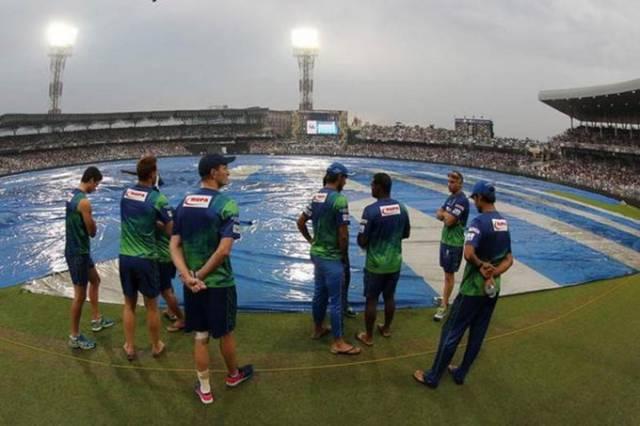 नाइट राइडर्स, रॉयल्स का मैच बारिश ने धोया