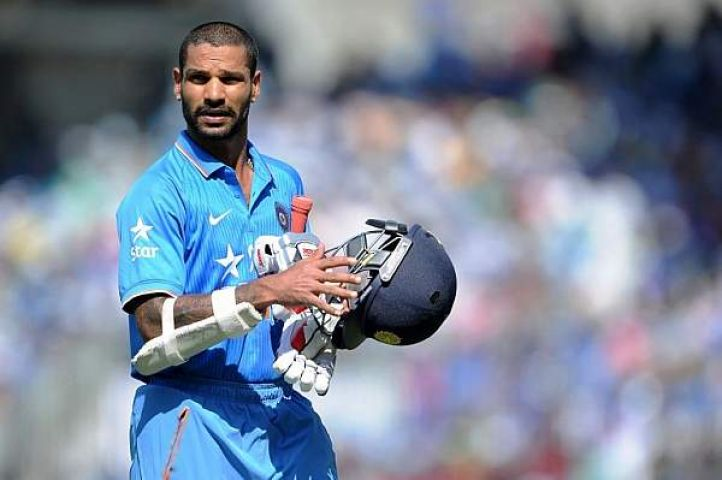 भारत को पहला झटका,धवन लौटे पवेलियम