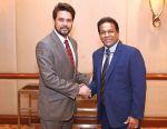 President of SLC congratulates Anurag Thakur