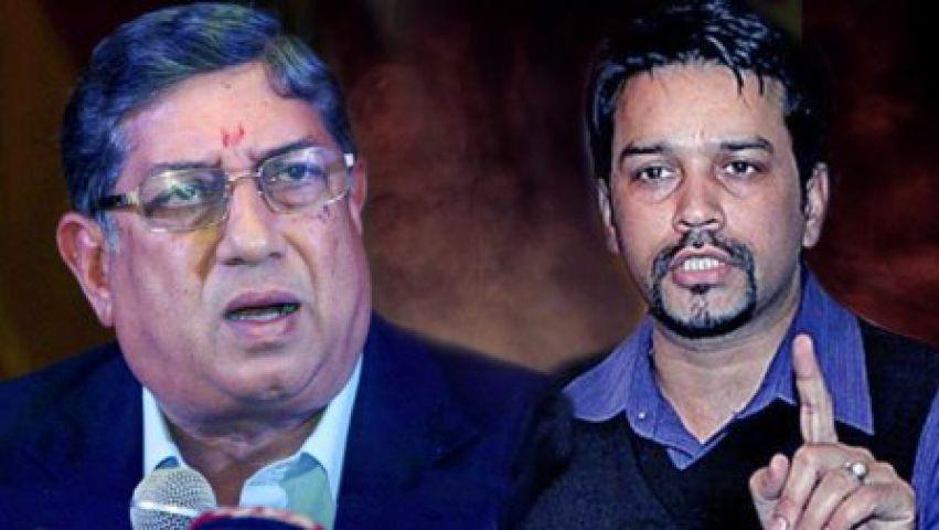 सट्टेबाज से जुड़े मामले में अनुराग ठाकुर का श्रीनिवासन पर हमला