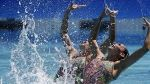 Karem Achach and Nuria Diosdado;Mexican synchronized swimmers perform on Bollywood song