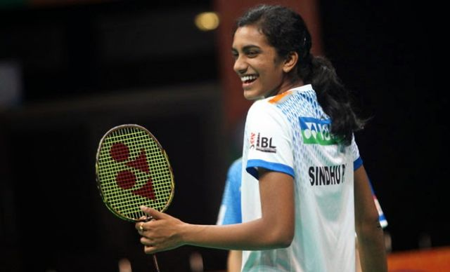 P.V.Sindhu lands in Hyderabad to rousing welcome