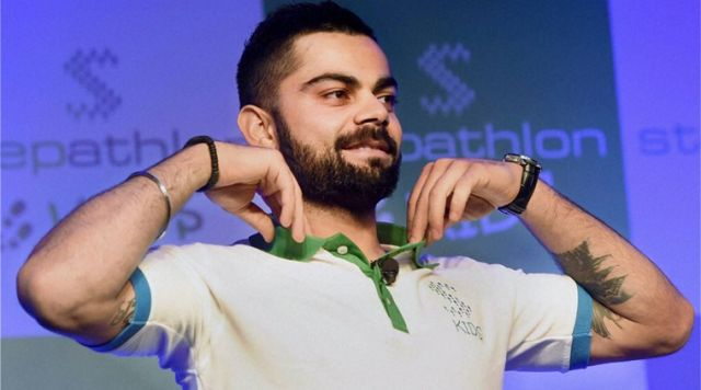 Cricketer Virat kohli promote healthy lifestyle
