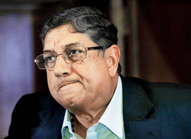 BCCI ने अदालत से श्रीनिवासन पर स्थिति साफ करने का आग्रह किया