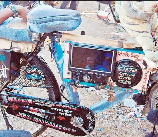 साइकिल में लगे LCD स्क्रीन, म्यूजिक प्लेयर, चलती है तो बजते है गाने