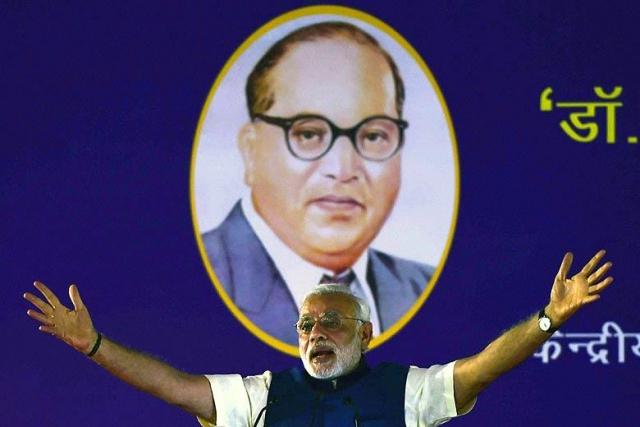 अंबेडकर की वजह से बना प्रधानमंत्री -मोदी