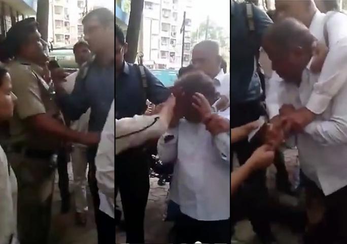लड़की ने बुजुर्ग को थप्पड़ों और लातों से मारा वीडियो वायरल