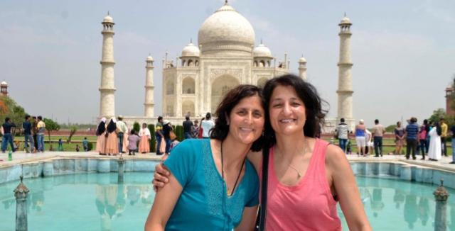 अंतरिक्ष यात्री सुनीता ने बहन के साथ किया ताजमहल का दीदार