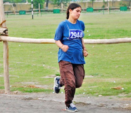 8 माह के गर्भ के साथ लगाई दौड़, पुलिस भर्ती में हुआ सिलेक्शन