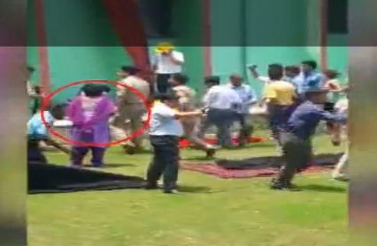 ट्रेनिंग के दौरान बहुमंजिला इमारत से गिरी महिला टीचर