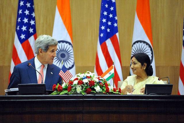 भारत - अमेरिका के विदेश मंत्रियों में हुई चर्चा