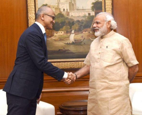 सत्या नडेला ने की प्रधानमंत्री मोदी से मुलाकात