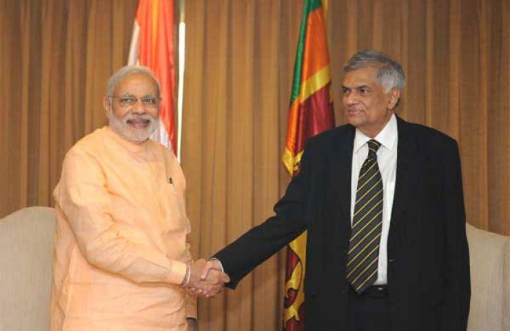 श्रीलंकाई PM विक्रमसिंघे ने की PM नरेंद्र मोदी से भेंट