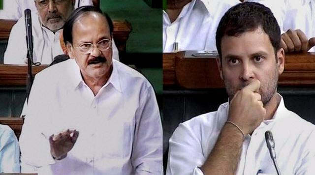 संसद में राहुल का बयान, शैतान जैसा प्रवचन था: वेंकैया नायडू