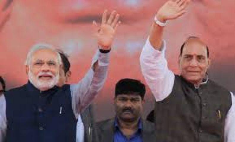 प्रधानमंत्री का सीना अब भी 56 इंच का : राजनाथ सिंह