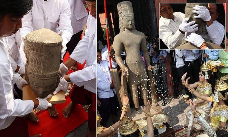 130 वर्ष पहले की प्राचीन हिन्दू देवता की निर्मित प्रतिमा का सिर लौटाया फ़्रांस ने