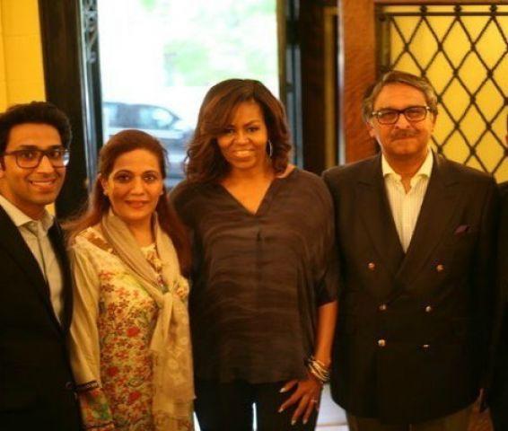 मिशेल ओबामा पहुंची पाकिस्तान एंबेसी