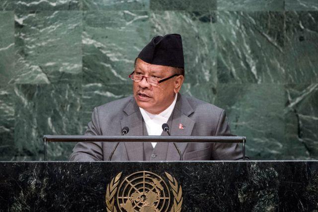 नेपाल के उप-प्रधानमंत्री प्रकाश मान सिंह ने की बान की मून से चर्चा